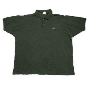 Vintage Lacoste Men's Shirt Green Large Polo Golf